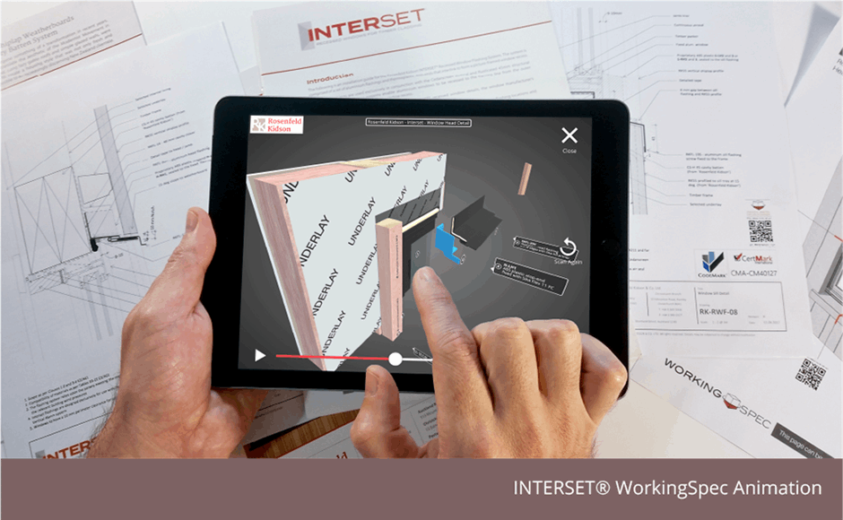 INTERSET® 3D Window Detail, WorkingSpec